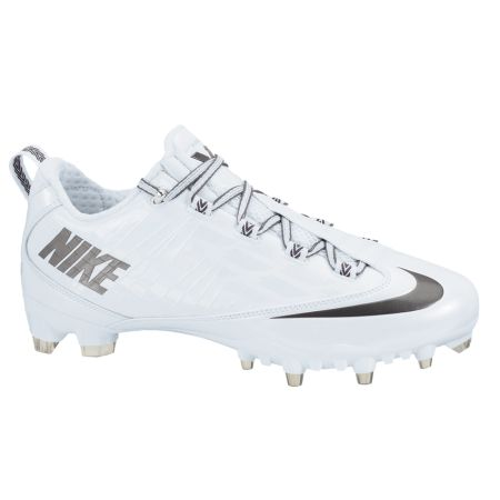 Nike Vapor Carbon Fly 2 TD Lacrosse Cleats - White/Gray | Lacrosse Unlimited.  Mens Football ...