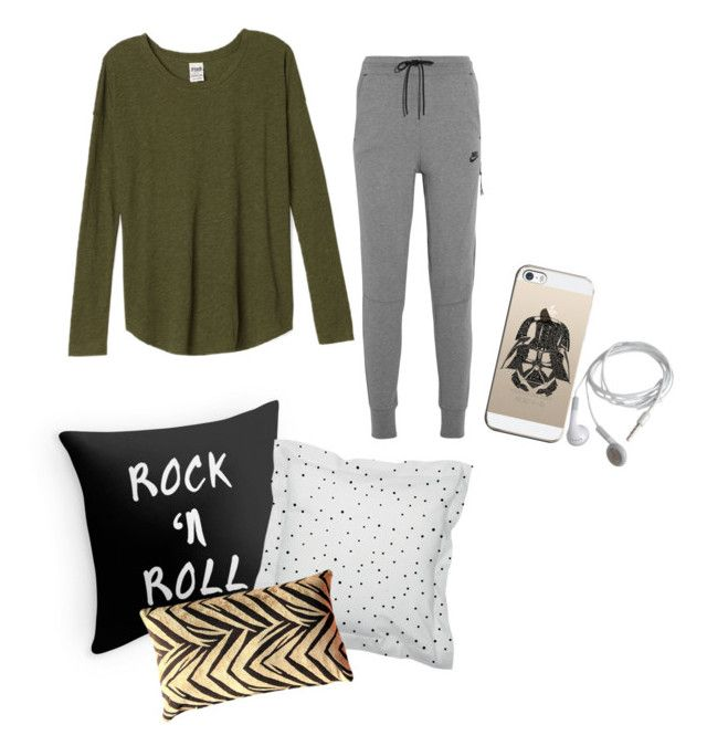 """""""time to sleep"""" by snursehaa on Polyvore featuring Pillow Decor, NIKE and Casetify"""