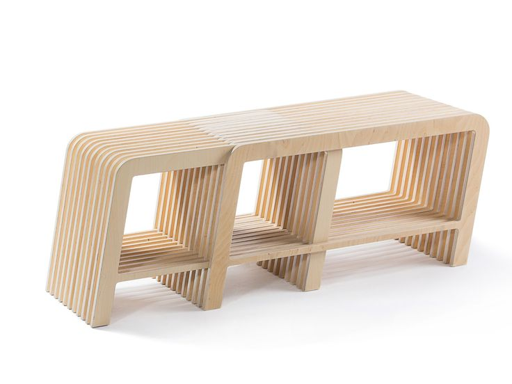 Low modular rectangular birch coffee table ONE by lllooch design Anton Tsibarev, Leonid Lozbenko