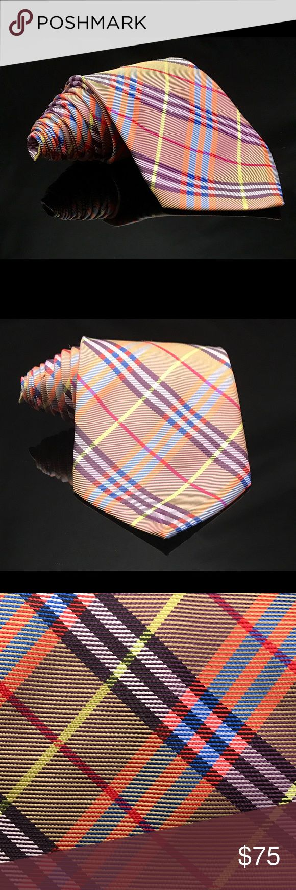 "SIGNATURE Burberry London Color Striped Silk Tie SIGNATURE Burberry London Color Striped Silk Tie 4"" Width STUNNING! Burberry Accessories Ties"