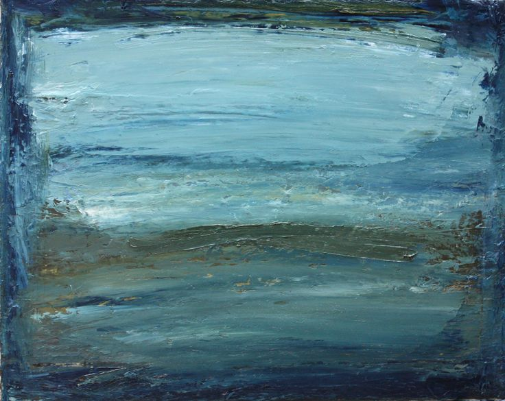 """""""The thundering silence of the Sea"""" Cora Murphy oil,ink & acrylic on canvas"""