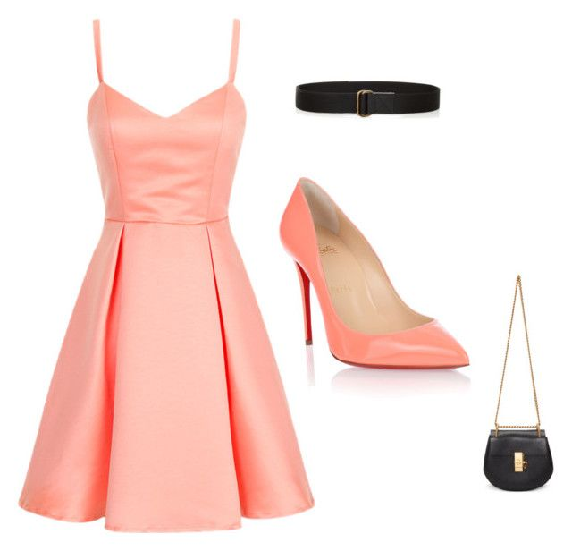 Party night! by unicornlover1075 on Polyvore featuring polyvore, fashion, style, Christian Louboutin, Chloé, Tomas Maier and clothing