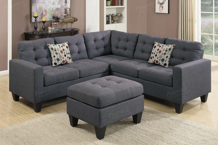 Poundex 4-Pcs Modular Sectional Sofa F6935  For $503