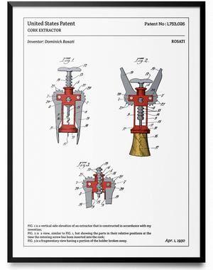 Affiche de brevet - Tire-Bouchon à levier