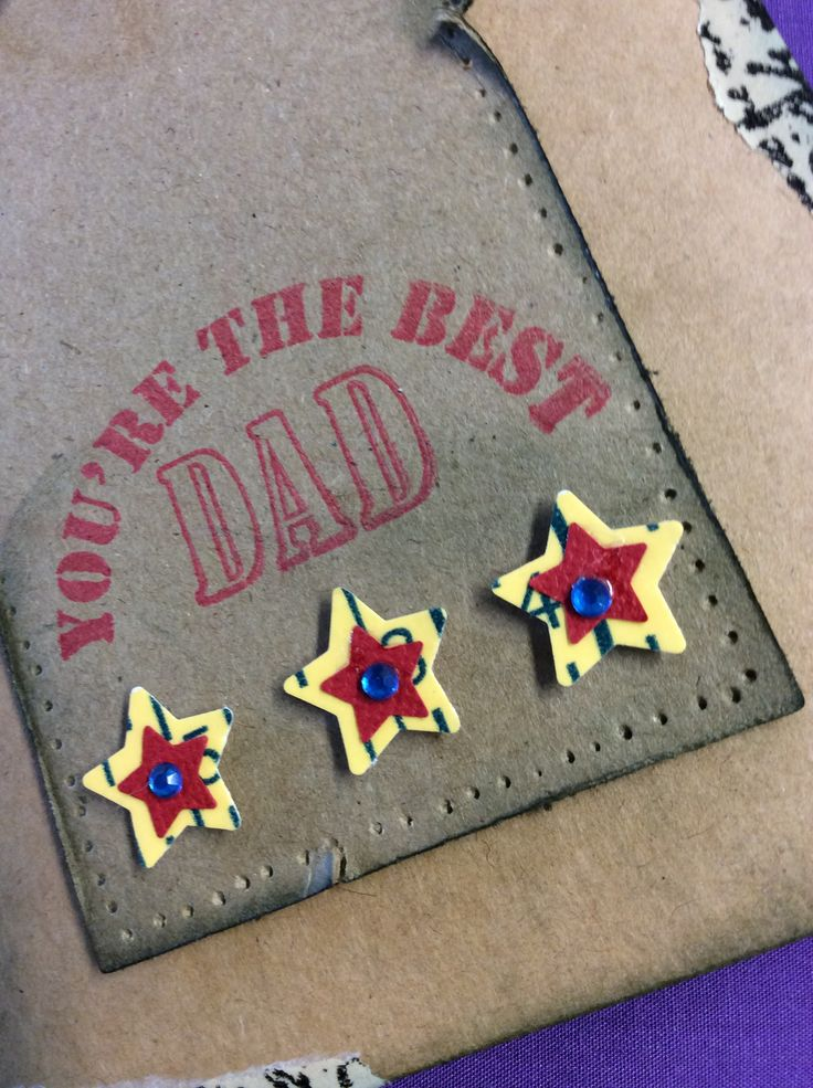 Close up #1 very simple Father's Day card with free stamps