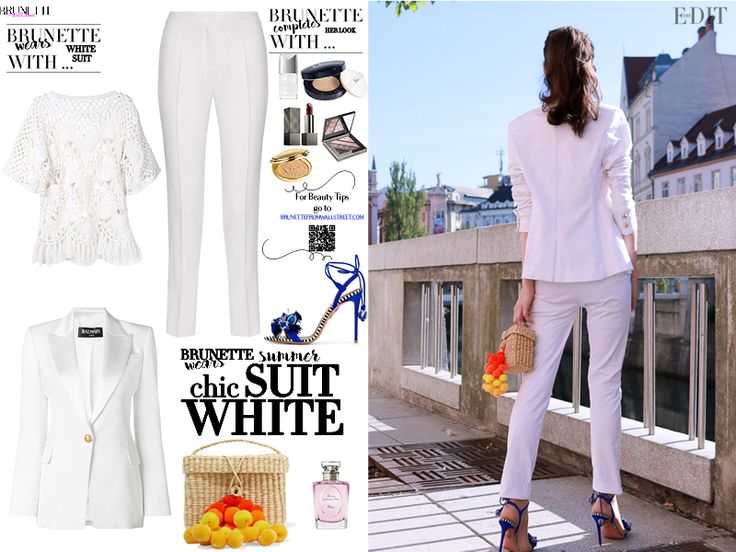 How to Wear All in White Trouser Suit this Summer