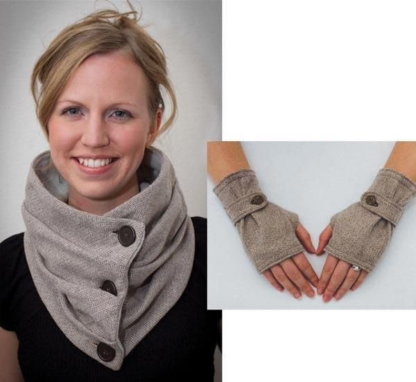 Looking for your next project? You're going to love Combo Infinity Scarf & Fingerless Glove by designer Gina Renee. - via @Craftsy