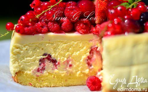 Творожный торт-мусс с ягодами в белом шоколаде | Кулинарные рецепты от «Едим дома!»