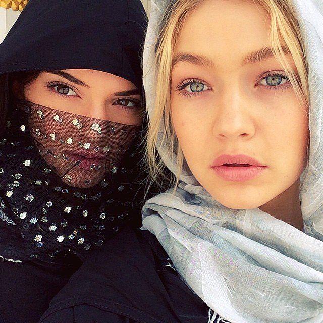 Kendall Jenner and Gigi Hadid in Dubai.