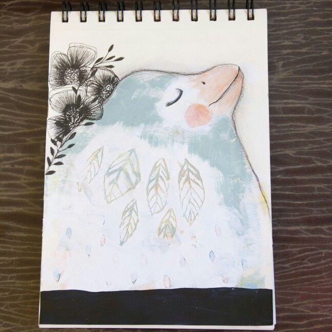 SUEÑOS art journal libreta creativa de {{lamohino}}