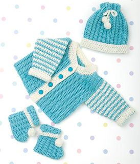 Craft Passions: CROCHET CARDIGAN /BOOTIES AND HAT First and foremo...