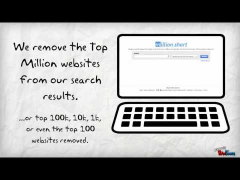 Million Short Search Engine - Imagine a search engine that simply removed the top 1 million most popular web sites from its index. What would you discover?