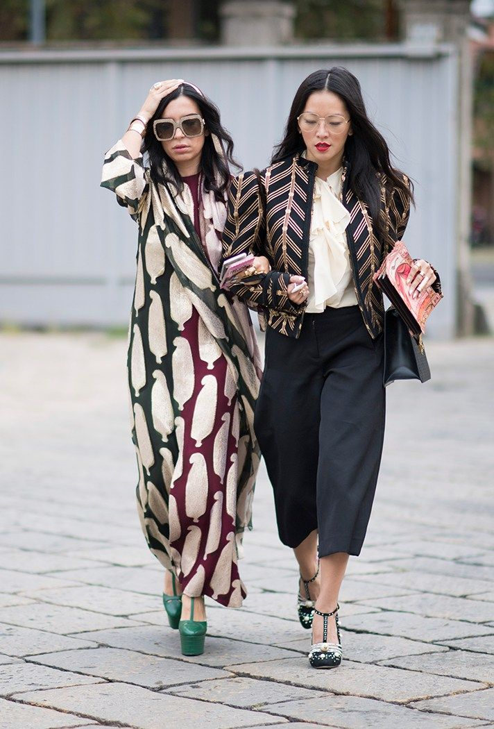 Milan Fashion Week Street Style Spring 2017: See All the Best Looks   StyleCaster