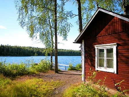 The most important: Sauna by the lake. This lake and sauna are in Evo, Finland.