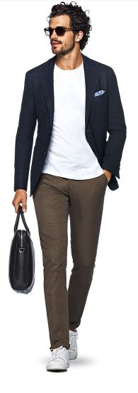 Suit Supply has the blue blazer on lock: (3 of 3), chinos and a T-shirt