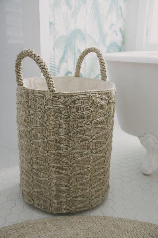 Macrame Basket - Ripples Natural