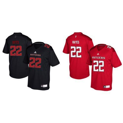 Rutgers Scarlet Knights Damon Hayes 22 Adidas Football Replica Jersey Rutgers Scarlet Knights Adidas Football Jersey