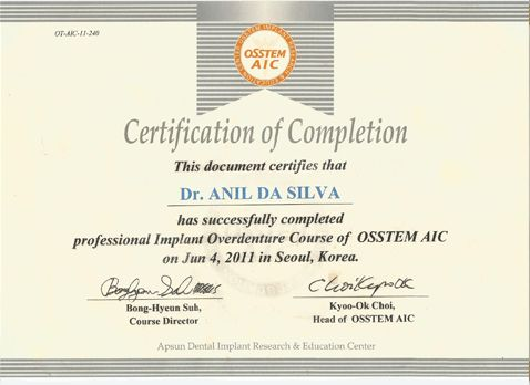 Implant overdenture course