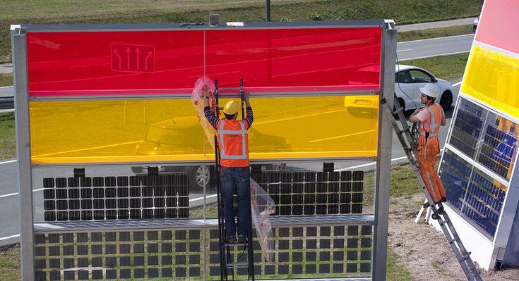 <p>De transparante, kleurrijke zonne-geluidsschermen die het afgelopen jaar bij de snelweg in Den Bosch stonden, blijken onder verwachting te presteren. Een alternatief met silicium-cellen tussen twee lagen glas is voor de korte termijn wél interessant, zo concludeerde projectleider Heijmans na een jaar testen.</p>