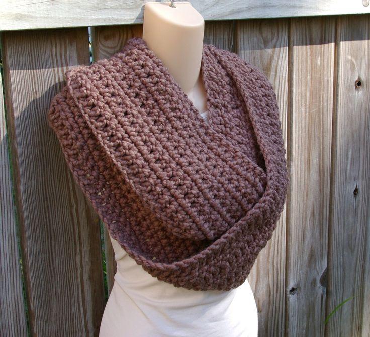 Infinity Scarf Cowl Crochet Pattern Long, Chunky PDF