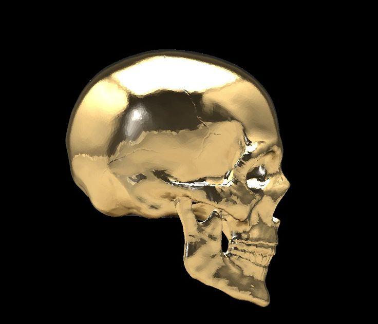 GOLDEN SKULL 3d design gemvision matrix  by George Sugar