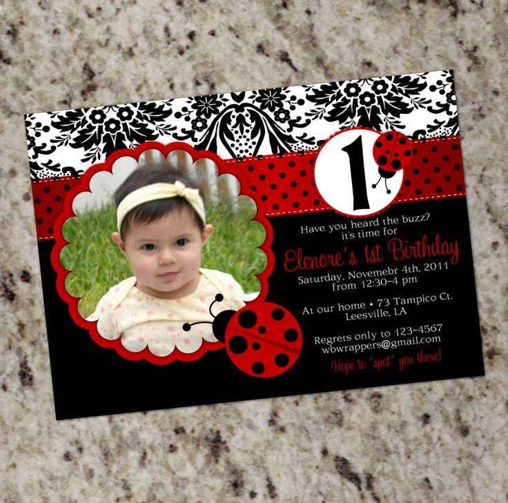 Best 25+ Ladybug invitations ideas on Pinterest | Ladybug party ...