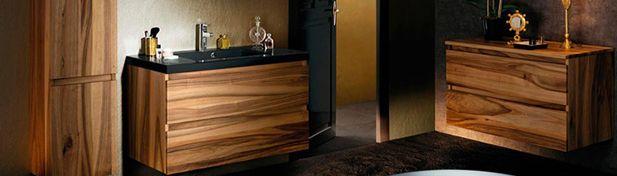 meuble salle de bain noyer Lignum Sanijura
