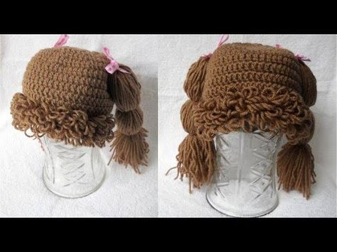 How to Crochet a single loop stitch for Cabbage Patch Hat - Crochet Jewel -  YouTube b4866a7197c