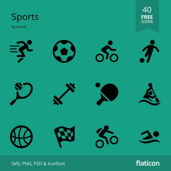 Great free icons pack, available for download. Sports themed