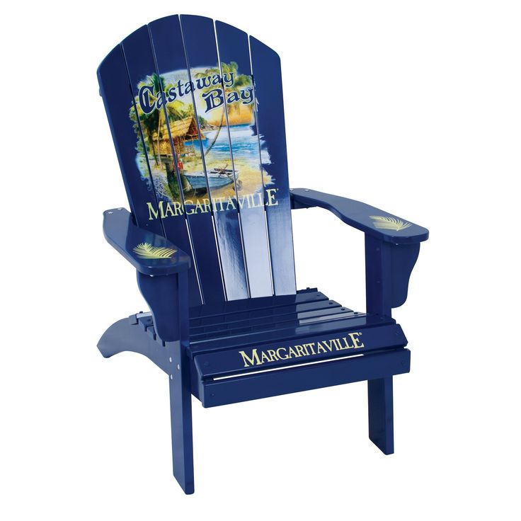 Margaritaville Outdoor Adirondack Chair Castaway Bay. Made from