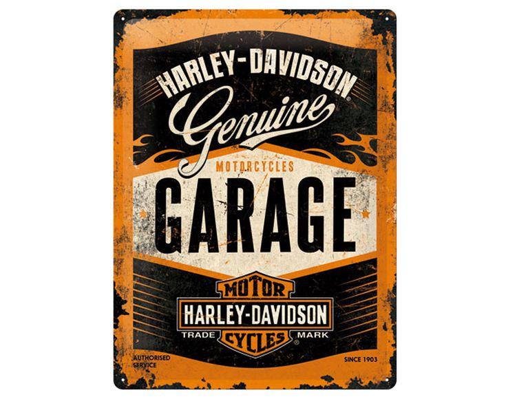 Plåtskylt HARLEY DAVIDSON Garage