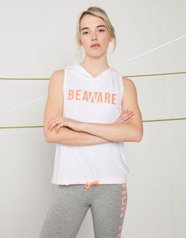 Camiseta Bershka Sport espalda cruzada - Bershka - Bershka España