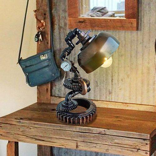 Steampunk industrial lamps urban designer by DesignerLight on Etsy