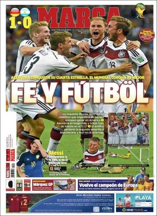 Alemania Rey del fútbol Mundial: Las portadas - LIGA ESPAÑOLA 2014-2015