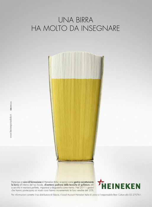"""Heineken, """"La Bière est riche d'enseignement"""""""