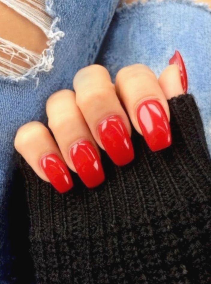 Nail French Ombre Red Nailsonfleek Ombrenails Elpasonailtech