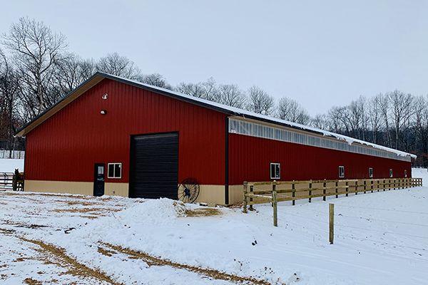 Lester Buildings Pole Barn Horse Barn In 2020 Horse Barns Lester Buildings Equestrian Building