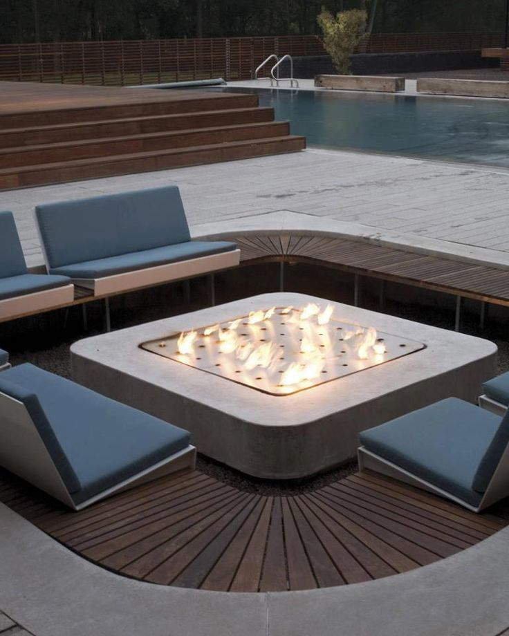 very luxurious and modern fire pit