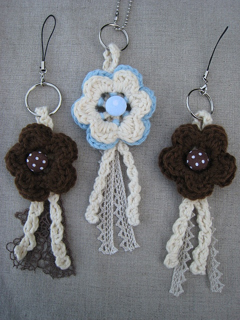 Crochet key rings