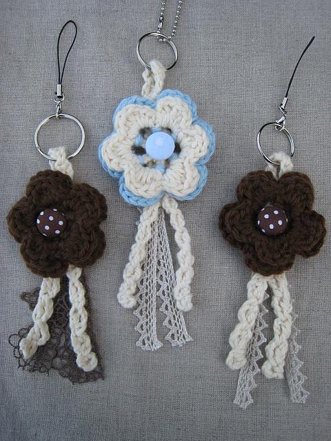Crochet key rings
