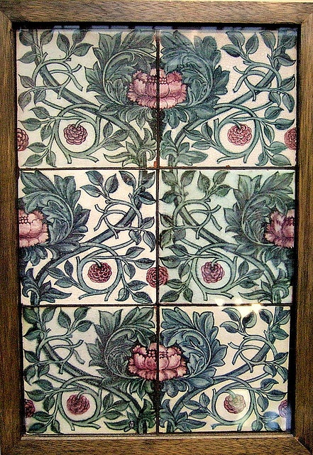 Six-tile panel by William de Morgan, England (in the Birmingham Museum, England)