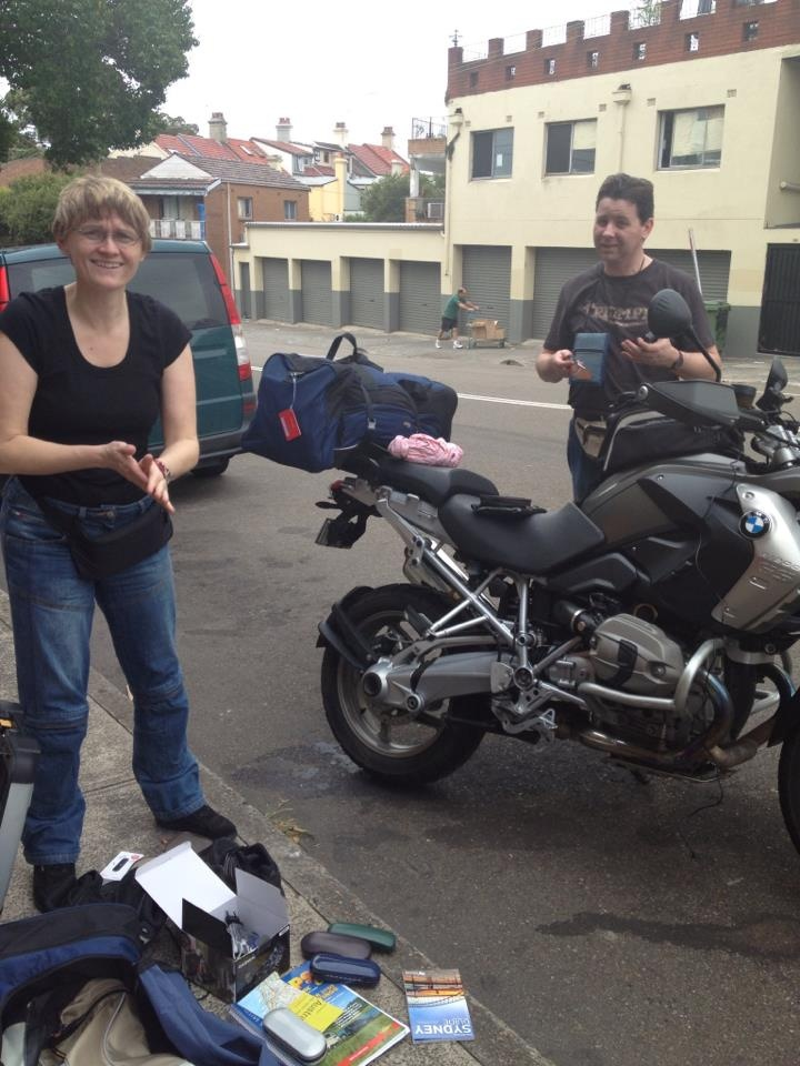 Ralph has just arrived in Sydney from Germany and is sitting up his bike for a 6 week tour around NSW & Victoria & Tasmania.