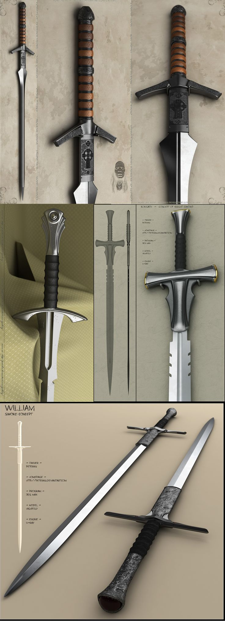 Knight Sword Concept by Peterku