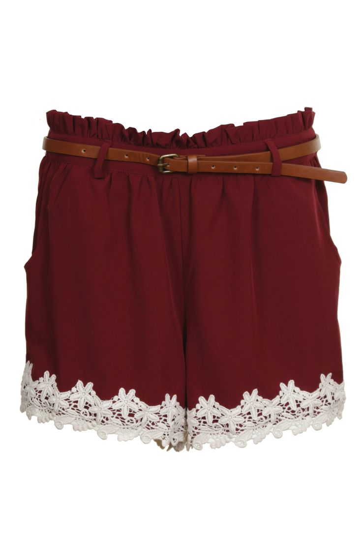 Gimmme gimme gimmme: Maroon Games Day Outfits, Dreams Closet, Gameday Attire, Cute Games Day Outfits, Lace Trim Shorts, Lace Shorti, Maroon Lace, Lace Shorts, Games Day Maroon