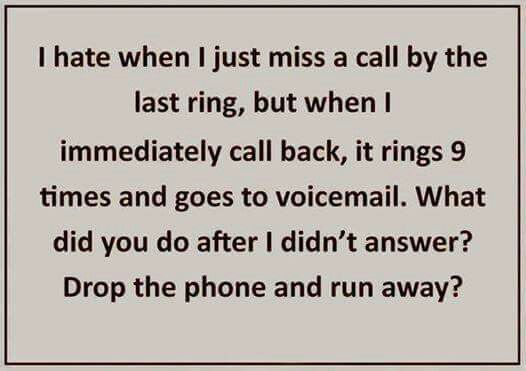 Rings  Times Goes To Voicemail
