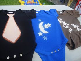 I was so inspired by this post  from Homespun with Love.    I usually make customized onesies using iron on transfers. I design them, flip t...