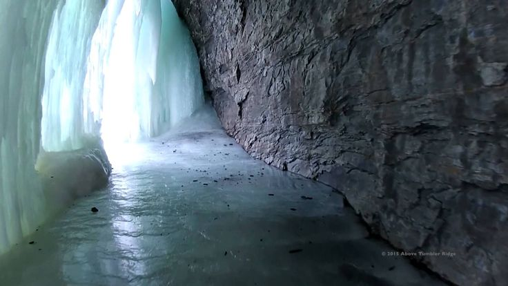 Bergeron Falls in the Winter - Tumbler Ridge, British Columbia