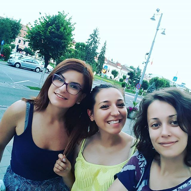 melycarcu . Evening walk after #graduation with my girls