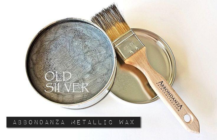 #Abbondanza #Metallic #Wax - voor een sprankelend subtiel metaal effect. Abbondanza Metallic Wax Old Silver