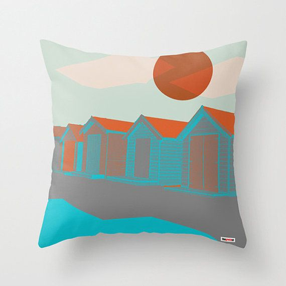 Houses Decorative throw pillow cover  Contemporary by thegretest, $55.00